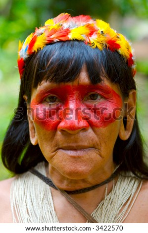Amazon indian woman portrait