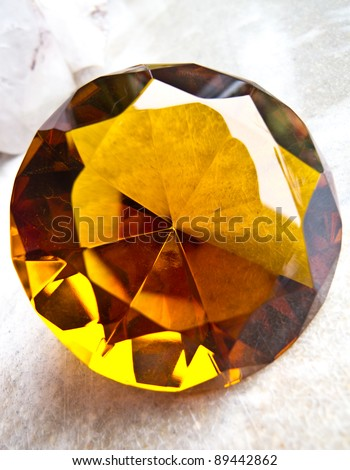 Amber coloured diamond