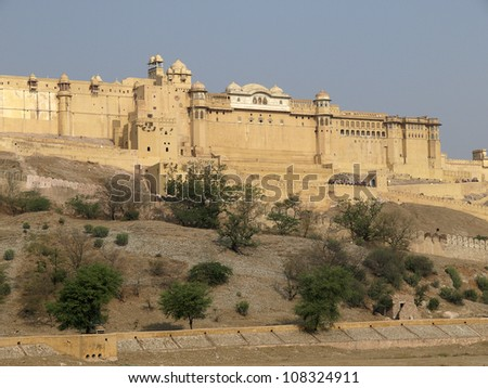 Amber Fort or Amer Fort, one of the principal tourist attractions of Jaipur, India