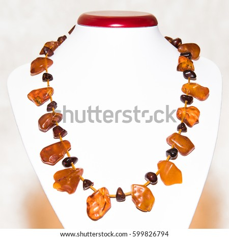 Amber. Jewelery from amber. Beads from amber. #599826794