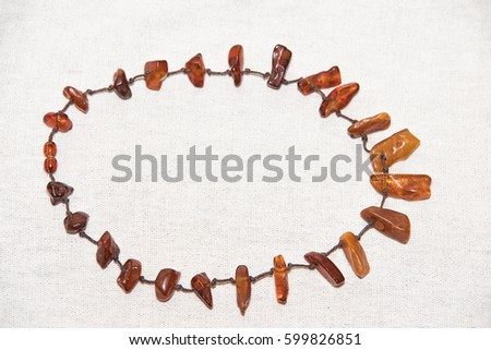 Amber. Jewelery from amber. Beads from amber. #599826851