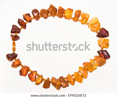 Amber. Jewelery from amber. Beads from amber. #599826872