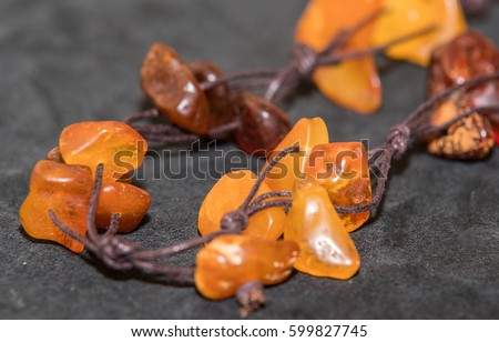 Amber. Jewelery from amber. Beads from amber. #599827745