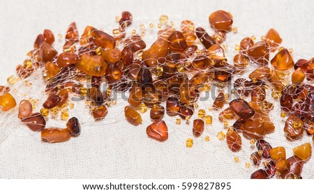 Amber. Jewelery from amber. Beads from amber. #599827895