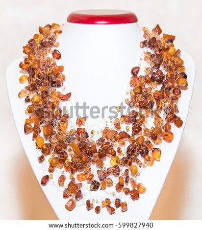 Amber. Jewelery from amber. Beads from amber. #599827940