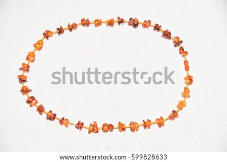 Amber. Jewelery from amber. Beads from amber. #599828633