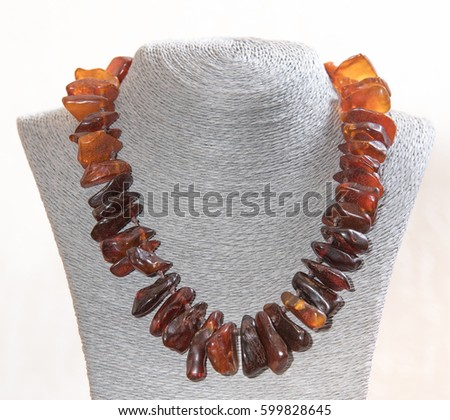 Amber. Jewelery from amber. Beads from amber. #599828645