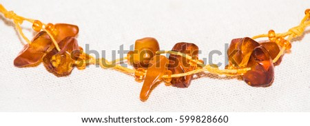 Amber. Jewelery from amber. Beads from amber. #599828660