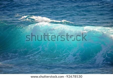 Amber ocean wave