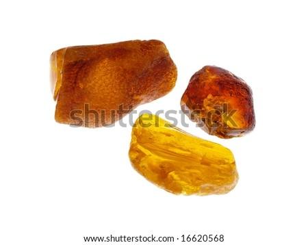 Amber. Origin: Poland - stock photo