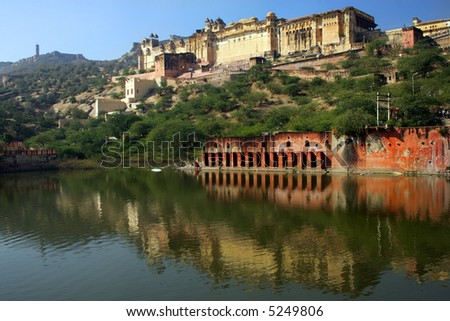 Amber Palace in Pink City of Jaipur, India