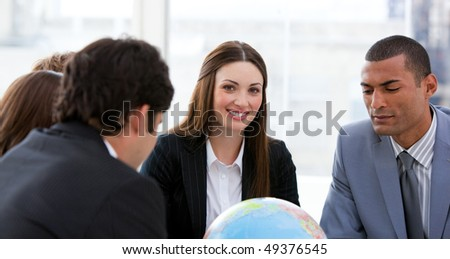Ambitious business team having a brainstorming about expansion in a company