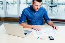 Ambitious web designer designing a responsive website