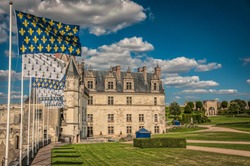 Amboise Castle on the banks of the Loire