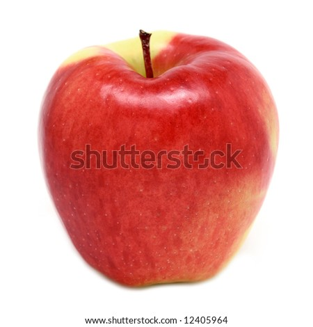 Ambrosia Apple isolated on white