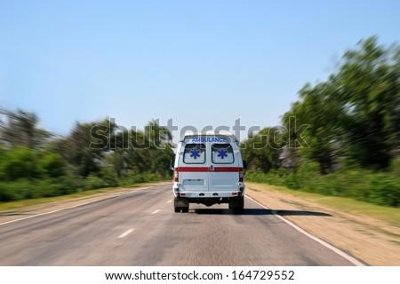 Ambulance car Crimea, Ukraine