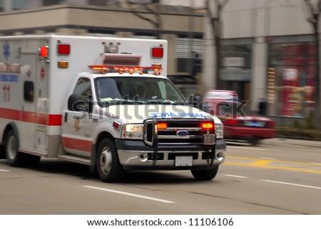 Ambulance in motion