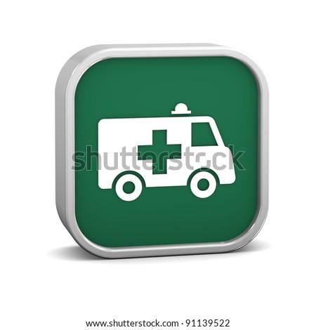 Ambulance sign on a white background.