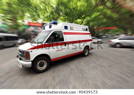ambulance speeding on the street