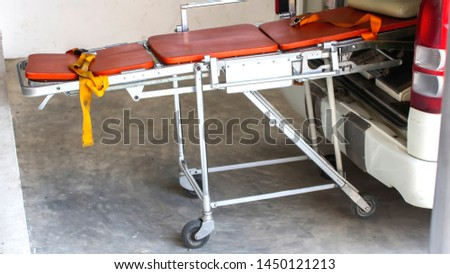 Ambulance transport trolley for emergency patients. #1450121213