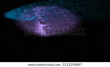 Ambulances in dark colors. Symbolism fir an horrible event, such as an accident, death and stroke. Followed by sadness and grief. Dark background image. Medical symbols. 3D illustration. Tragedy.