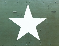 Ameican Military star on a WW2 tank