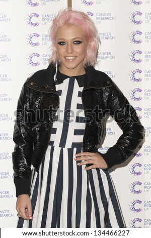 Amelia Lily arriving at the James' Jog fundraising event for Cancer Relief, Kensington, London. 03/04/2013 Picture by: Simon Burchell