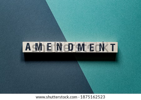 Amendment word concept on cubes Photo stock ©