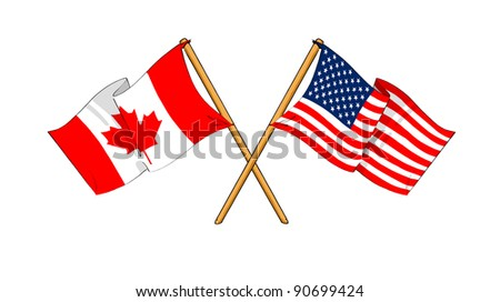 America and Canada alliance and friendship