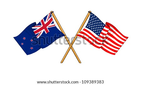 America and New Zealand alliance and friendship