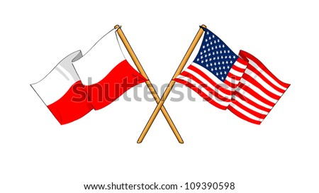 America and Poland alliance and friendship