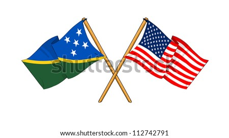 America and Solomon Islands alliance and friendship