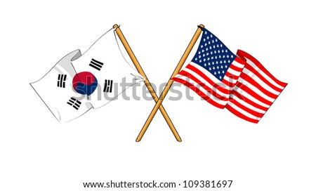 America and South Korea alliance and friendship