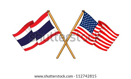 America and Thailand alliance and friendship