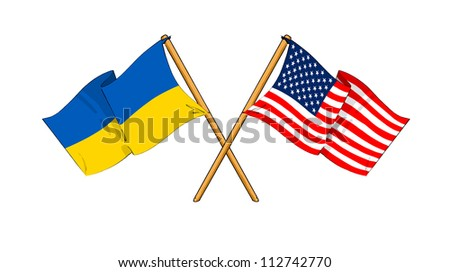 America and Ukraine alliance and friendship