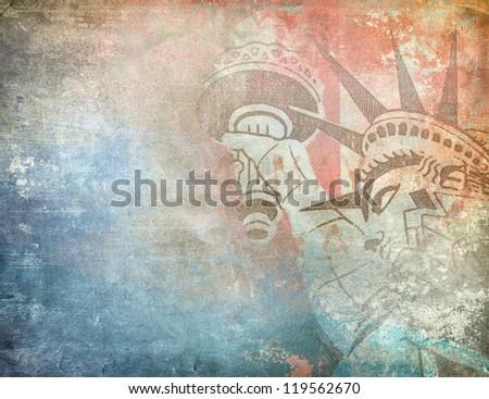 America background, grunge illustration