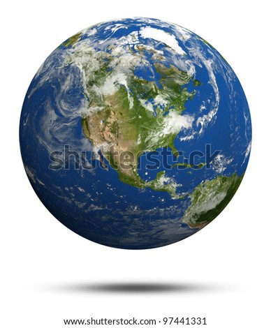 America. Earth globe model. Elements of this image furnished by NASA