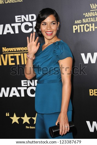 "America Ferrera at the premiere of her movie ""End of Watch"" at the Regal Cinemas LA Live. September 17, 2012  Los Angeles, CA Picture: Paul Smith"