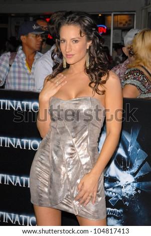 America Olivio at the World Premiere of 'The Final Destination'. Mann ...