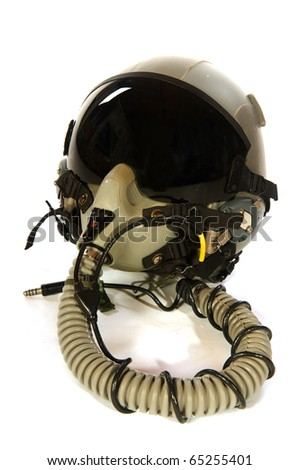 American aircraft helmet isolated over white