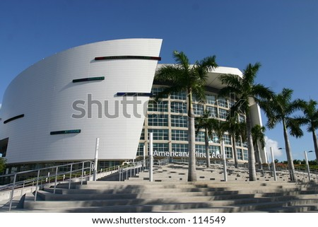 American Airlines arena from Miami, Florida
