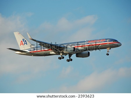 American Airlines Boeing 757 passenger jet