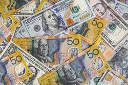 American and Australian Dollar Money Currency Dollar Bill
