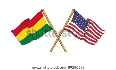 American and Bolivian alliance and friendship