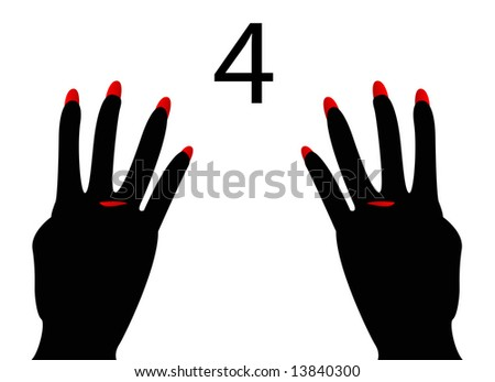 American and British Sign Language Number 4