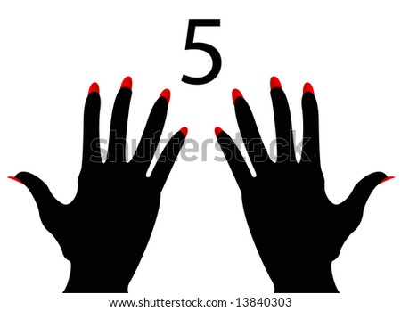 American and British Sign Language Number 5