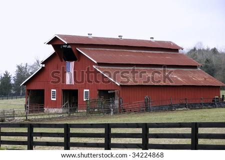 American Barn near Fanklin Tennessee