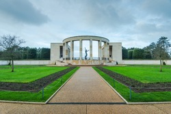 American Cemetery in Normandy Monument of fallen soldiers, France