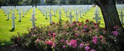 American cemetery in Omaha Beach, Normandy