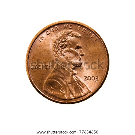 American cent (isolated)